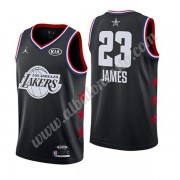 Camisetas NBA Baratas Los Angeles Lakers 2019 Lebron James 23# Negro All Star Game Swingman..